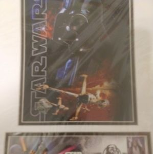 Star wars stamps first day new in plastic